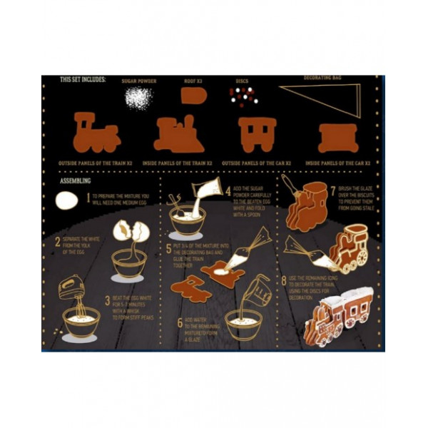 №23 Selection of gingerbreads Train 870g