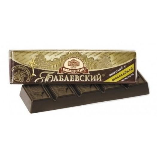 Babajevskij with chocolate filling 50g